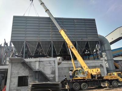 钢厂8000平米布袋除尘器施工中